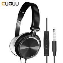 Mikrofon ile kablolu kulaklıklar aşırı kulak oyun kulaklık bas derin ses HiFi müzik Stereo kulaklık Handsfree Xiaomi PC PS4