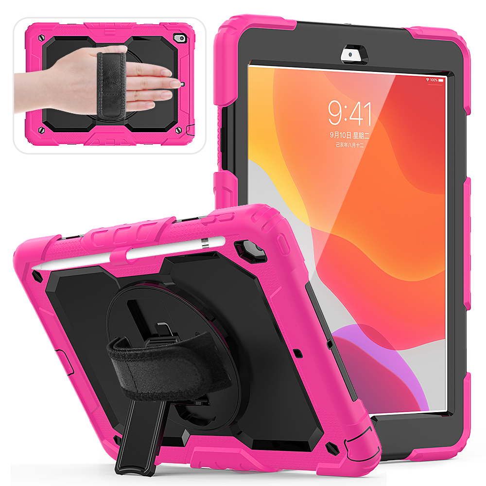 8th PC 2020 360 Kids A2200 10.2 degree Stand 7th Silicon case funda Gen cover A2198 iPad For A2232 Shockproof straps rotation