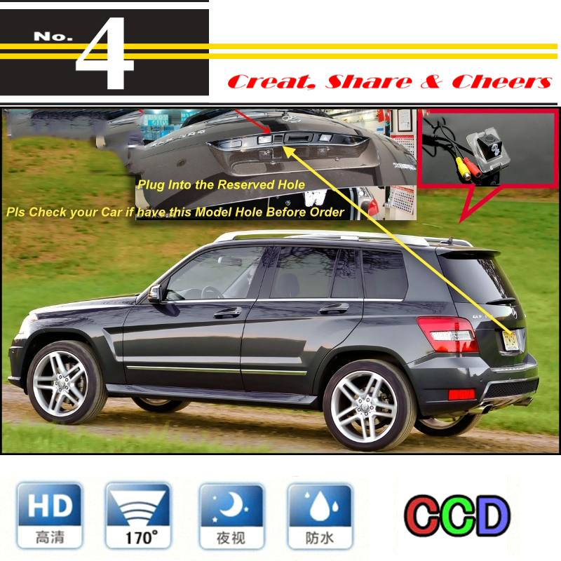 For Mercedes Benz GLK MB X204 Original Reserved Hole Car Camera High Quality Rear View Back Up Camera For PAL / NTSC | CCD + RCA