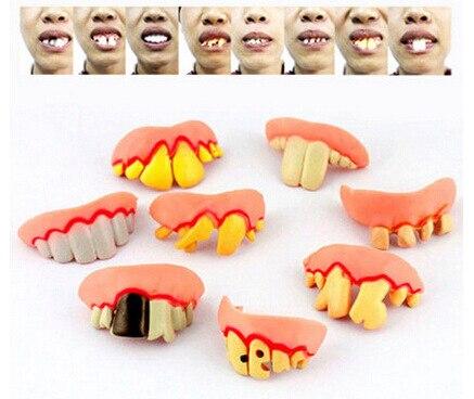 1 Pcs Practical Jokes Interesting Prank Horror Fun Shocker Novelty Gadgets Funny Denture Teeth Halloween Decoration Toys