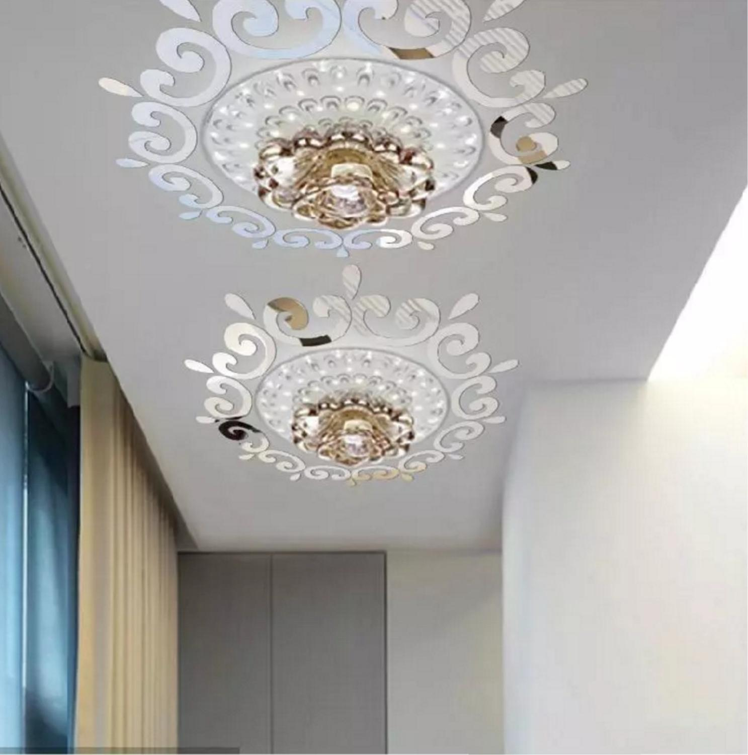 2019 Hottest ceiling Room Acrylic Decal Art DIY Mirror Light Decor 3D Wall Sticker Home Decoration European Style