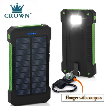 Solar Power Bank Waterproof 50000mAh Solar Charger USB Ports External Charger Powerbank for Xiaomi 5
