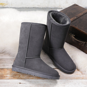 Image 5 - ホットオーストラリアの女性ユニセックストール雪のブーツ防水冬革ロングブーツブランド冬暖かい屋外靴のサイズ eu 35 40