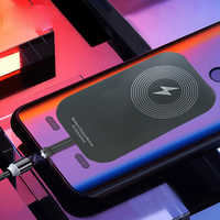 Magnetic Qi wireless charging charger with USB cable for iphone 6 7 Plus Samsung dual film wireless and wired fastchargingmodule