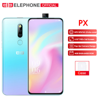 Elephone PX 6.53 FHD+ Full Screen Global Mobile phone Android 9.0 MT6763 Pop Up Camera Design 16MP Camera Smartphone