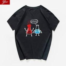 Penso che si sono overreacting divertente T-shirt da uomo Chimica Biologia Geografia hip hop Pantaloni A Vita Bassa streetwear Tee shirt homme harajuku