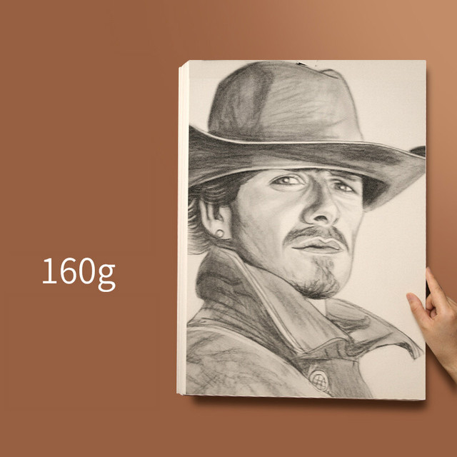 TOYANDONA 100g 8K Standard Sketch Drawing Paper Acrylic Sketching Art Pad Painting Art Supplies for Artist School 80 Sheets