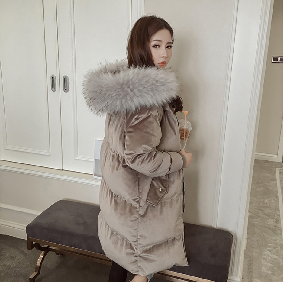 Winter New 2018 Korean-style Loose-Fit Mid-length Cotton Overcoat Thick Bread Cotton Coat WOMEN'S Dress Hooded Cotton-padded Jac