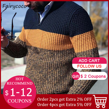 Fashion Men Autumn Winter Warm Pullover Jumper Plus Size Long Sleeve Casual Loose V Neck Knitted Sweater Man Knitwear Tops 2020 1