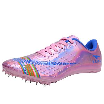 Męskie miękkie dno kolce profesjonalne adidasy damskie buty lekkoatletyczne do biegania na trening buty lekkie buty Unisex tanie i dobre opinie Akexiya CN (pochodzenie) Cotton Fabric Odkryty lawn Oddychające Wodoodporna Średnie (b m) RUBBER Formotion Lace-up Spring2019