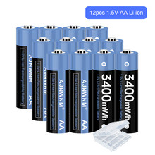 1.5V AA Rechargeable Battery 3400mWh Rechargeable Battery AA 1.5V Lithium Li-ion Rechargeable battery AA 1.5V for Toys 1.5V AA