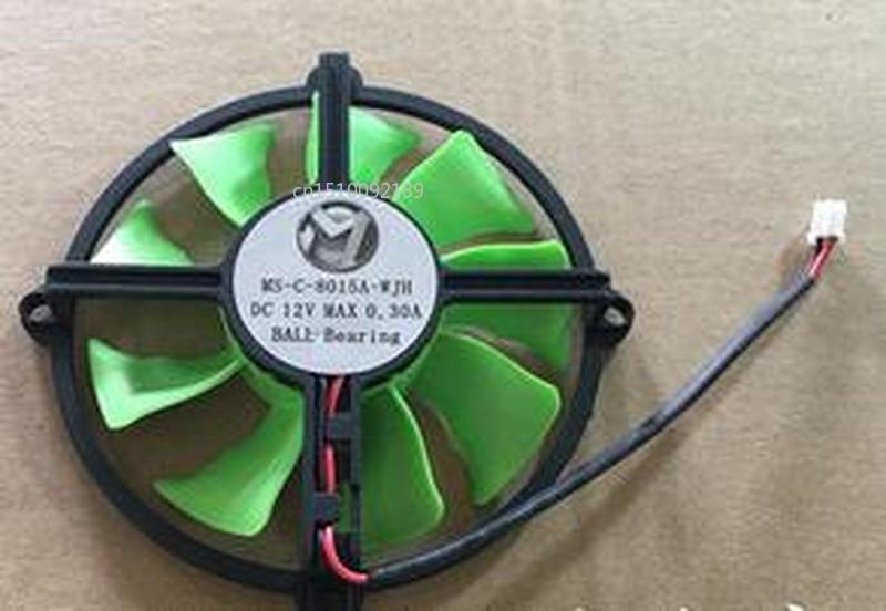 For MS-C-8015A-WJH 12V 0.25A 2 Line Graphics Fan Free Shipping