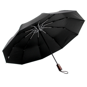 Image 5 - Parachase Automatic Umbrella Men Business 10 Ribs Wood Handle Golf Sun Umbrellas Windproof Anti UV Parasol Clear Umbrella UPF50+