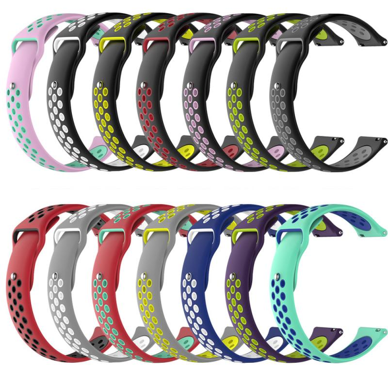 For Amazfit Bip Strap 20mm Double Color Silicone Replacement Watchband For Xiaomi Huami Amazfit Bip A1608 Youth Ed Watch