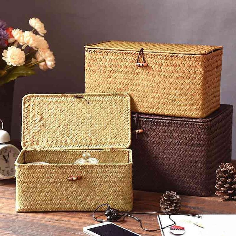 Seaweed Woven Storage Box Eco Friendly Home Baskets » Planet Green Eco-Friendly Shop
