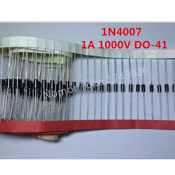 High quality 100PCS 1N4007 4007 1A 1000V DO-41 High quality Rectifier Diode Professional terminal ic ... 10pcs smd us1m uf4007 1a 1000v sma fast recovery diode rectifier