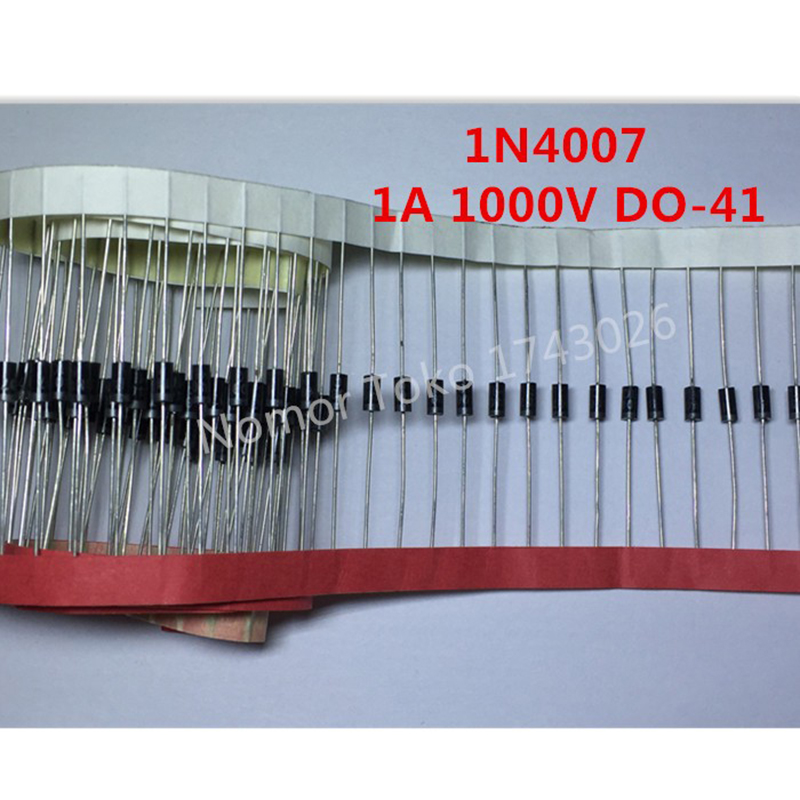 High quality 100PCS 1N4007 <font><b>4007</b></font> 1A 1000V DO-41 High quality Rectifier Diode Professional terminal ic ... image