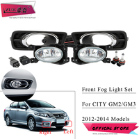 ZUK For Honda For City GM 2012 2014 Replacement Front Fog Lamp Set Kit With Switch Blub Chroming Cover Wire
