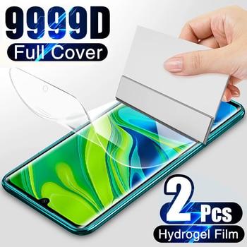 9999D Hydrogel Film For Xiaomi Redmi Note 10 9S 9 8 7 Pro 9A 8A Note 10 Pro Screen Protector mi 10T 9T Poco X3 M3 Pro Not Glass 1
