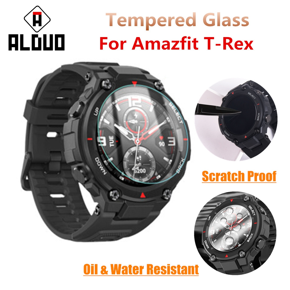 Screen-Protector Watch Tempered-Glass Amazfit-Accessories Xiaomi T-Rex for Huami title=
