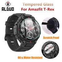 Protector de pantalla para reloj inteligente, cristal templado para Huami Amazfit t-rex, accesorios para Xiaomi Amazfit