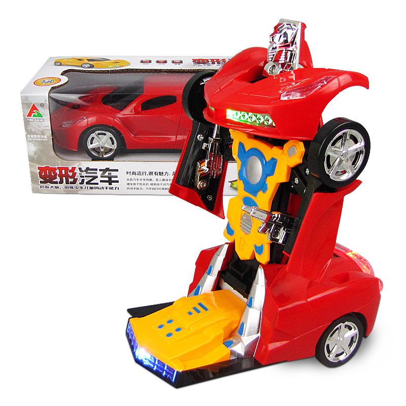 Electric Transformer Light And Sound Universal Deformation Robot Children Toy Car Model Stall Hot Selling