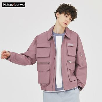Metersbonwe 2020 Spring New Men's Casual Overalls Jackets Male Fashion Lapel pocket Jacket Men Handsome loose - discount item  77% OFF Coats & Jackets