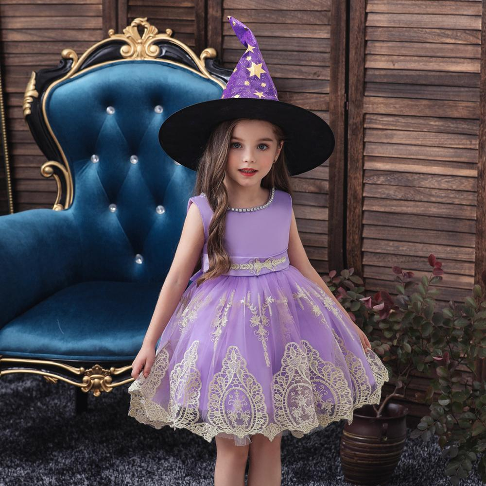 BH A752A # детская одежда для девочек Платья с цветочным узором для девочек праздничное платье кружевные красные фиолетовые дешевые рождествен