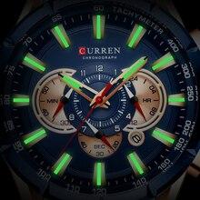 Curren 8363 Watch Men Waterproof Chronograph Watche