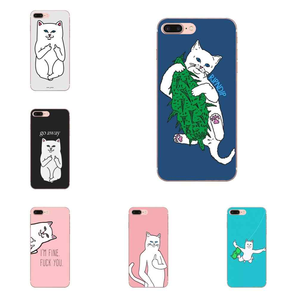 Soft Phone Case Skin Cover For Huawei Honor Mate 7 7A 8 9 10 20 V8 V9 V10 G Lite Play Mini Pro P Smart Finger Cat Printing