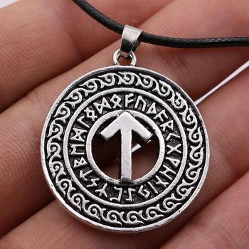 Runic TIWAZ Rune For Victory Viking Jewelry Norse God Protection Runes Talisman Amulet Necklace Men Women Pagan Accessories image