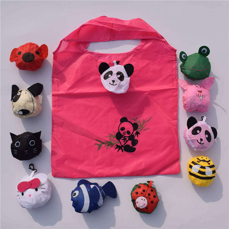 SEAAN New Travel Foldable Handbag Grocery Tote Storage Reusable Animal Shopping Bags Travel Packing Organizers Recycle Handbag