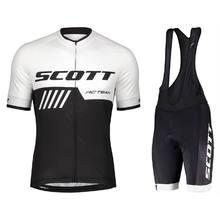 Scott nova venda camisa de ciclismo masculina manga curta ciclismo roupas para mtb bicicleta estrada 9d gel acolchoado shorts