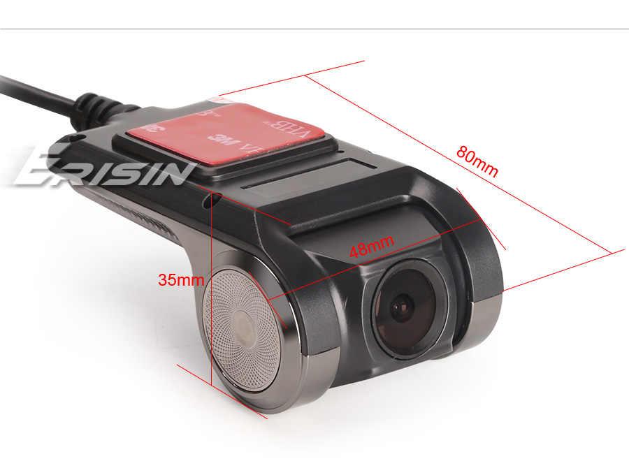 Erisin ES570K 120 ° Malam Visi 720P Mobil Perekam USB DVR Dash Kamera untuk Android Stereo Radio
