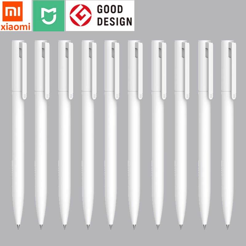 Ручка Xiaomi ручка белая mijia Роскошная 0,5 мм Милая гелевая черная чернильная ручка роликовый инструмент для письма школьная офисная Студенческ...