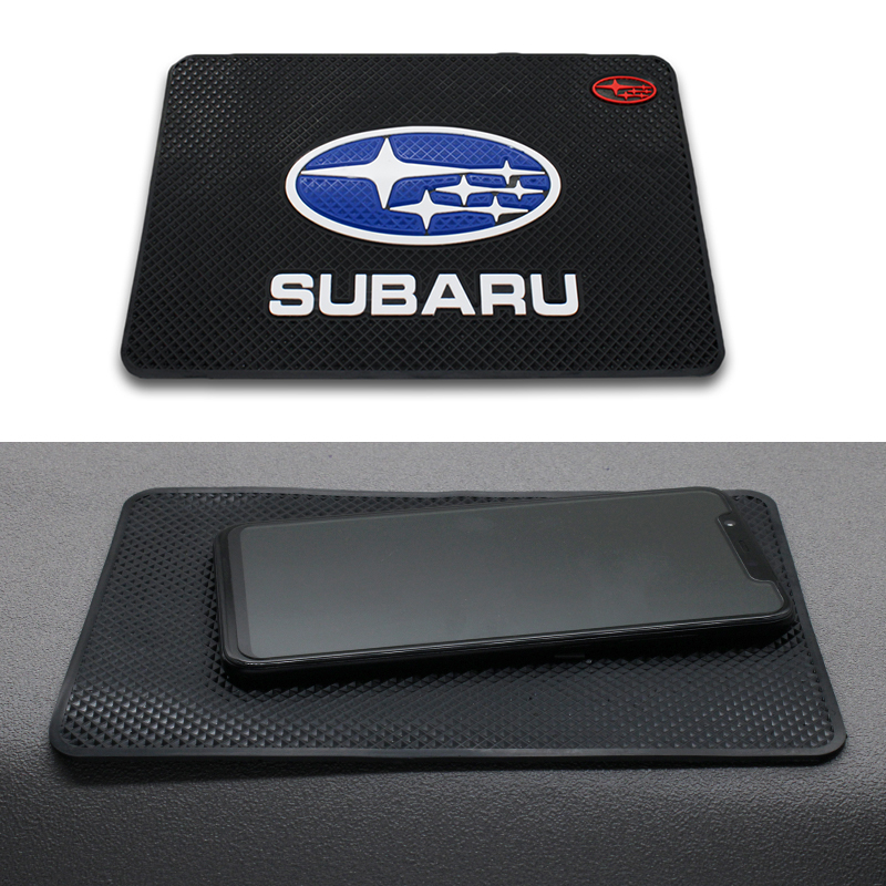 Car Logo Anti Slip Mat Phone Holder Non-Slip Mat Non Slip Pad FOR Subaru Forest Human Lion XV Impreza WRX WRC STI Car Accessorie