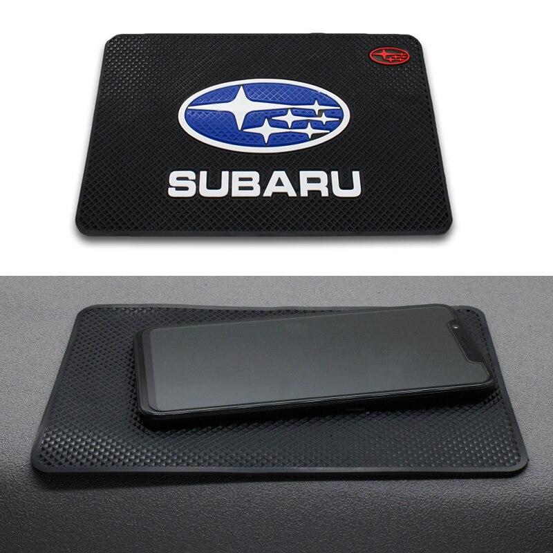 Car Logo Anti Slip Mat Phone Holder Non-Slip Mat Non Slip Pad FOR Subaru Forest Human Lion XV Impreza WRX WRC STI Car Accessorie