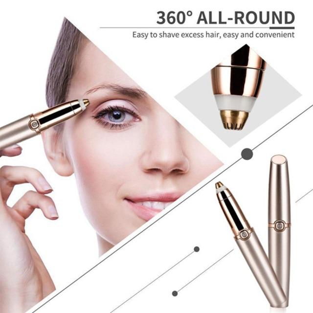 Electric Eyebrow Trimmer Makeup Painless Eye Brow Epilator Mini Shaver Razors Portable Facial Hair Remover Women depilator 4