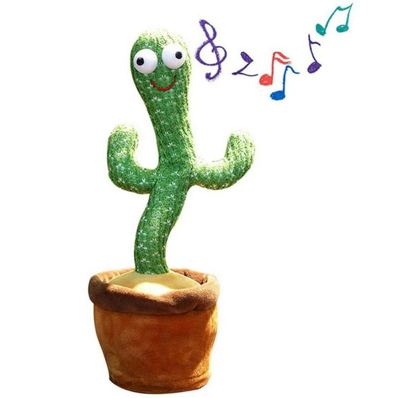 Dancing Cactus Plush Toy  Swing Twist Funny Dancing Singing Toys Electronic Shake with song cute Dance Succulent lovers