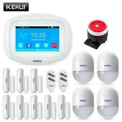 KERUI K52 4.3 pouces écran tactile App contrôle sans fil GSM WIFI système d'alarme de sécurité à domicile capteur dispositif d'alarme antivol pour porte