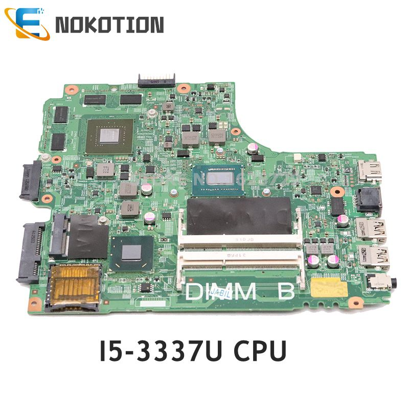 NOKOTION For <font><b>Dell</b></font> inspiron <font><b>3421</b></font> 5421 Laptop Motherboard <font><b>I5</b></font>-3337U CPU GT730M GPU DNE40-CR MB 5J8Y4 CN-01FK62 01FK62 Mainboard image