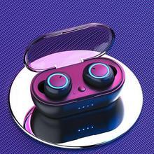 Y50 TWS słuchawki Bluetooth słuchawki bezprzewodowe zestaw słuchawkowy Stereo sportowe słuchawki douszne mikrofon z etui z funkcją ładowania dla smartfona tanie tanio RFMicron Dynamiczny CN (pochodzenie) wireless Zwykłe słuchawki do telefonu komórkowego Słuchawki HiFi NONE instrukcja obsługi