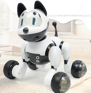 Интеллектуальный робот, питомец, кошка, собака, электрическая игрушка для управления звуком, голосовые танцы, компаньон, умный ребенок, Муль...