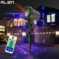 Инопланетянин открытый RGB 12 рождественские тематические узоры лазерный проектор огни водонепроницаемый сад открытый Рождественская елка ...