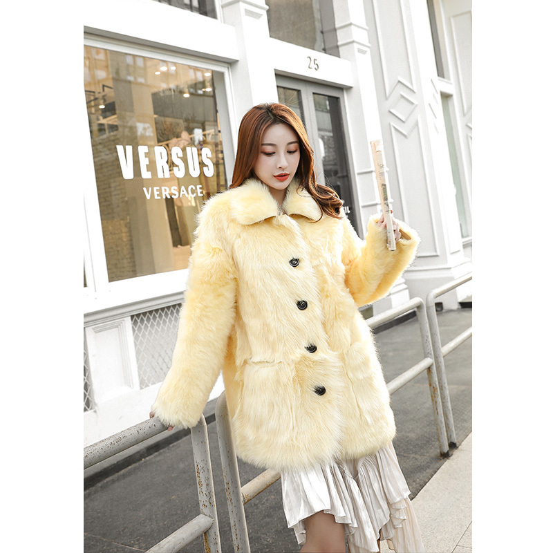 Natural Real Fur Coat Female 100% Sheep Fur Jacket Winter Coats Women Clothes 2020 Korean Vintage Double-faced Tops Hiver 190011