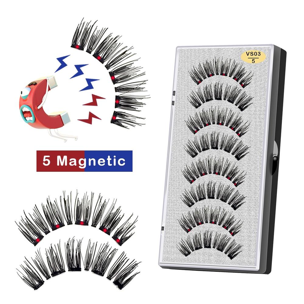 naturais cílios artificiais de vison cílios magnéticos com pinça