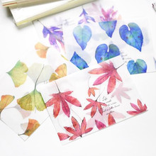 8pcs/lot Translucent Envelope Fallen Leaves Paper Greeting-Card Stationary Gift
