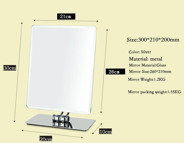 360 graus de rotação compõem espelho cosmético