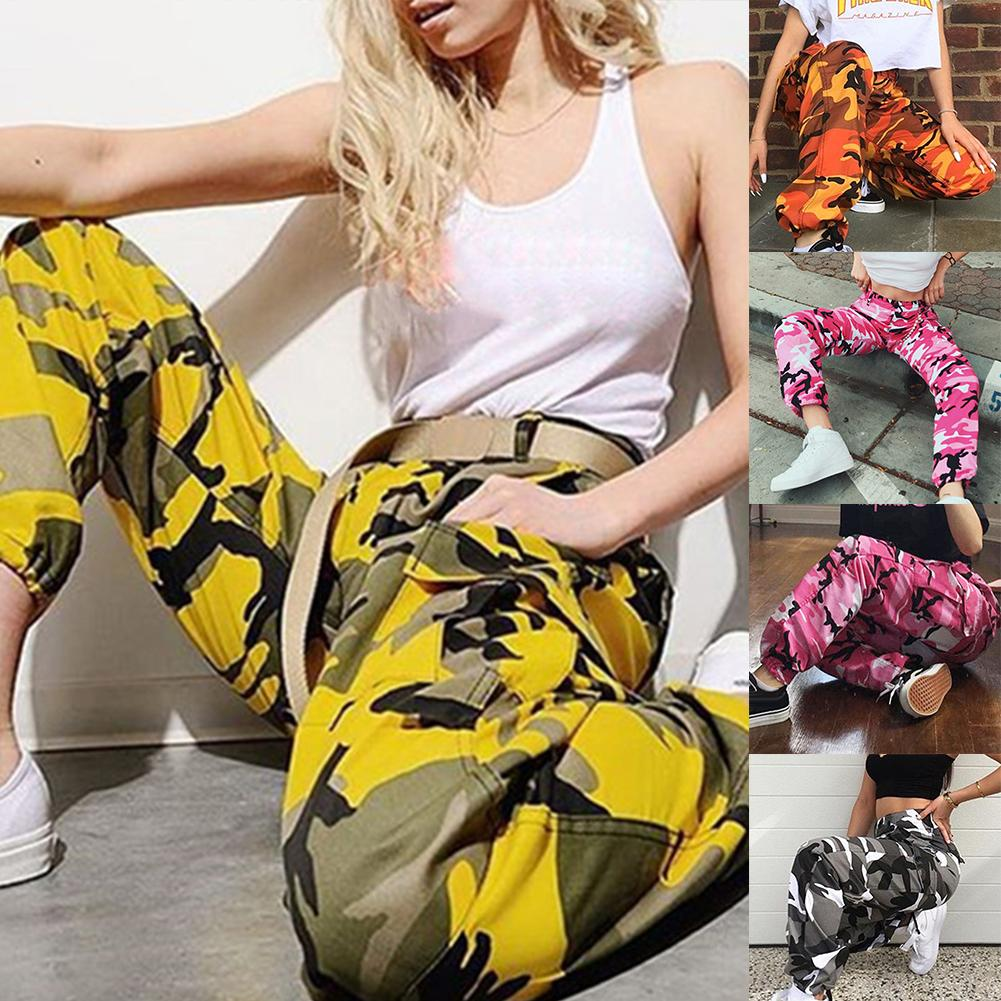 Women Skinny Pants Plus Size Fashion Striped Camouflage Print Streetwear Trousers Casual High Waist Joggers Sweatpants