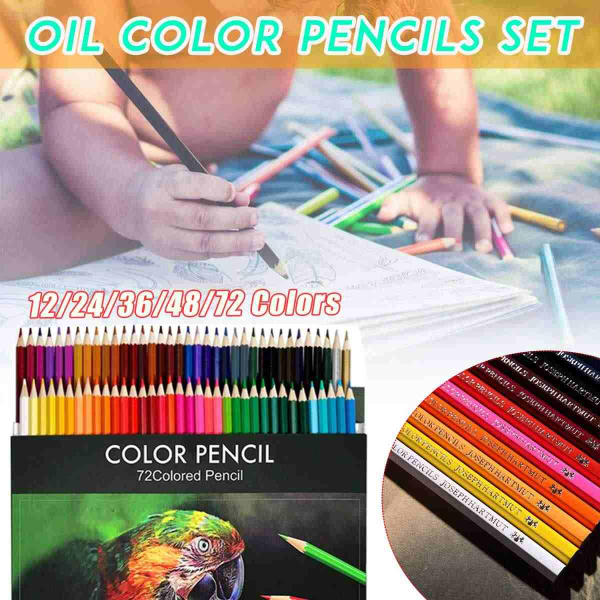 18 Colors Wooded Colored Pencils Artist Painting Oil Color Wood Pencil for School Drawing Sketch Art Supplies